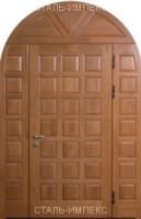 входные арочные двери отделка дуб росс